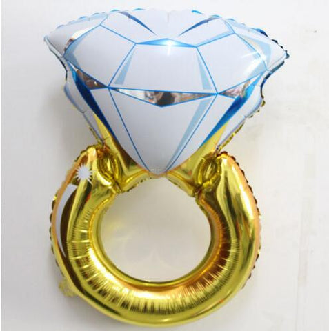 Diamond Ring Shaped Large Size Foil Balloon