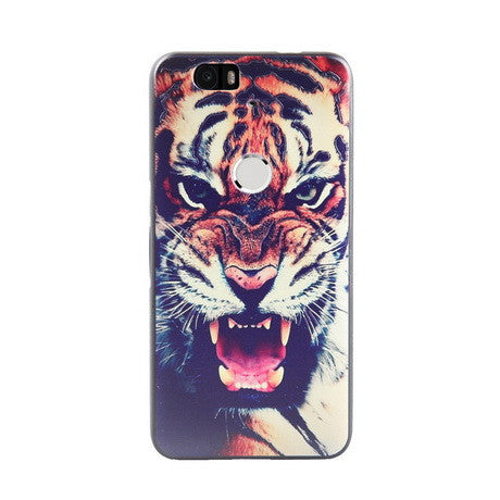 Eye of the Tiger Print Huawei Nexus 6P Back Cover Case