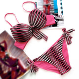 Stella Striped Push-Up Bikini (Plus Size)