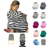Baby Car Seat Stripe Pattern Multi-Use Stretchy Cover - Simply Paris Boutique