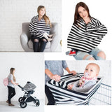 Baby Car Seat Stripe Pattern Multi-Use Stretchy Cover