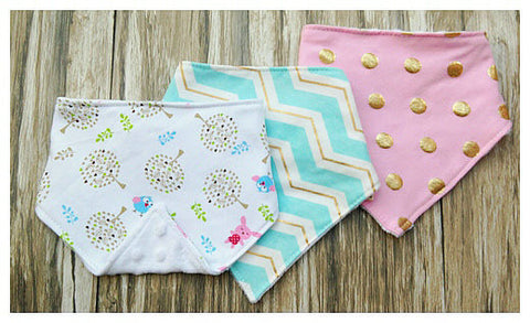 Little Trees Baby Bandana Bib Set of 3 - Simply Paris Boutique