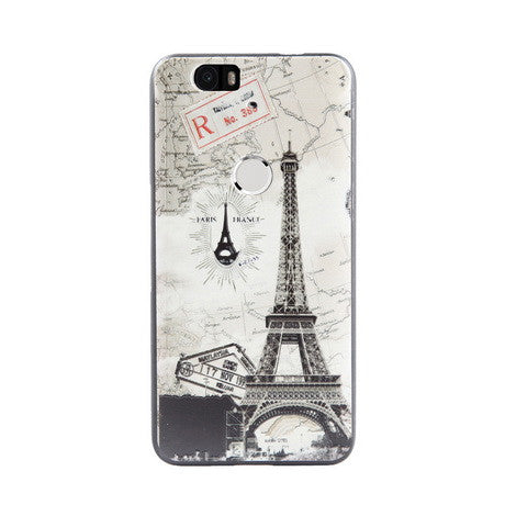 Eiffel Tower Print Huawei Nexus 6P Back Cover Case