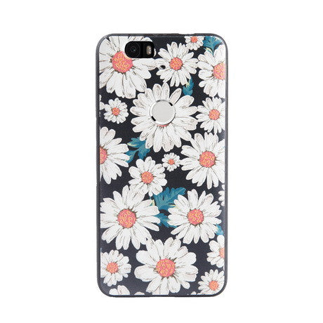 Chrysanthemum Print Huawei Nexus 6P Back Cover Case