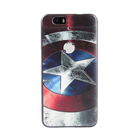 Captain America Print Huawei Nexus 6P Back Cover Case