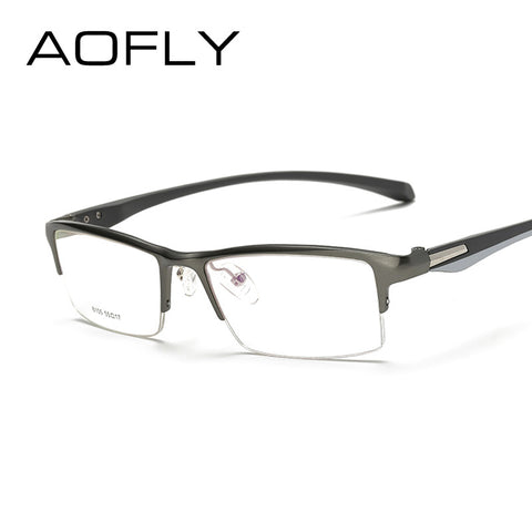 Aofly Optical Titanium Frame Clear Lens Reading Eyeglasses