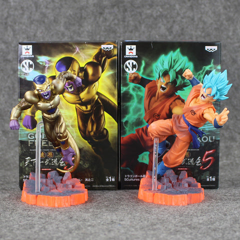 2 pc 15cm Dragon Ball Z Freezer VS Gokou PVC Collective Action Figure With Box Best Present