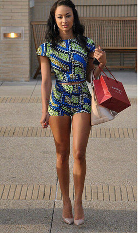 Alicia Two Piece African Print Romper