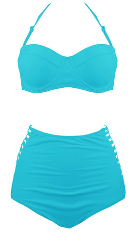 Anastasia Push-Up and High Waist Bikini (Plus Size) - Simply Paris Boutique