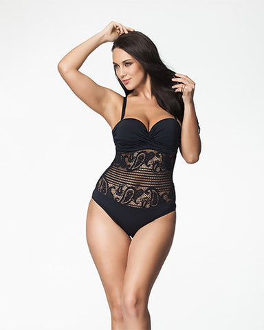 Sweet Sexy Lace One-Piece Bikini (Plus Size)