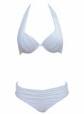 Cadence Halter Push Up Bikini (Plus Size)