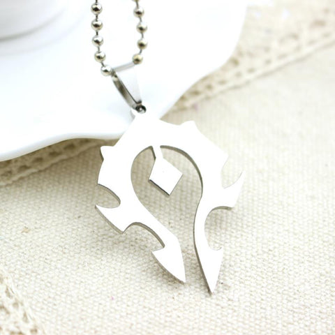 World Of Warcraft: For Horde Silver Badge Necklace - Simply Paris Boutique