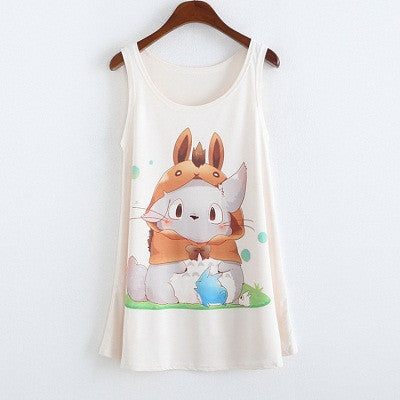 Jordyn Sleeveless Fat Bunny Printed Top - Simply Paris Boutique
