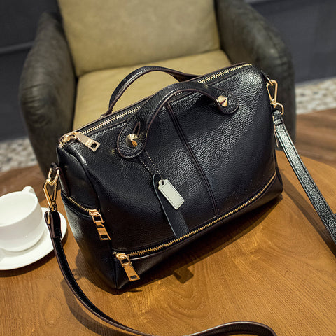 Brandee Leather Handbag - Simply Paris Boutique