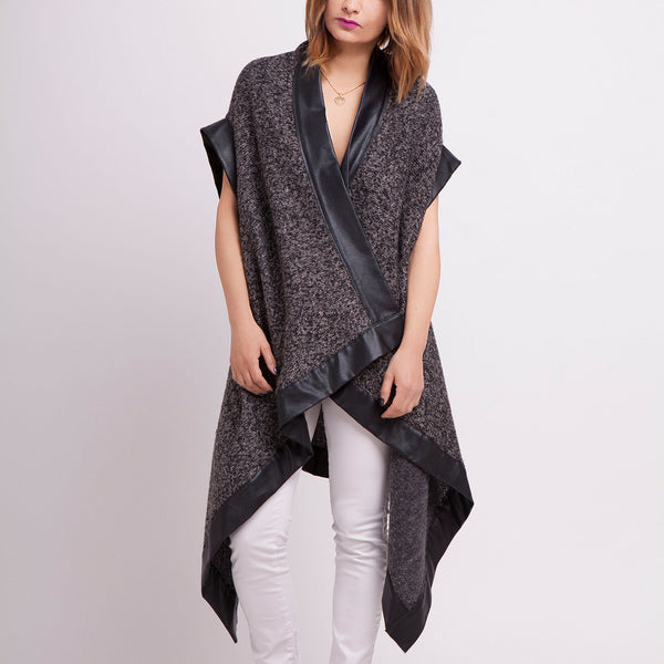 Asymmetric Long Vest