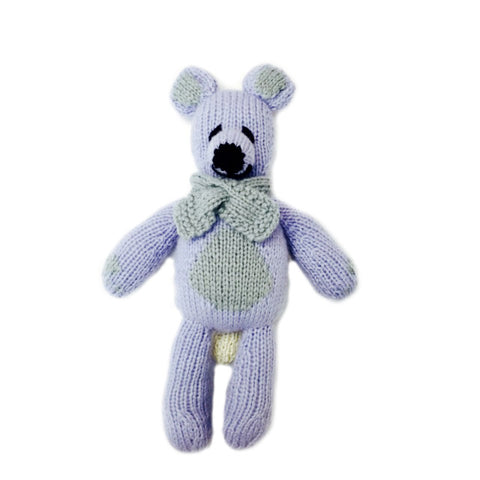 Bhalu the Bear, Lavender/Grey