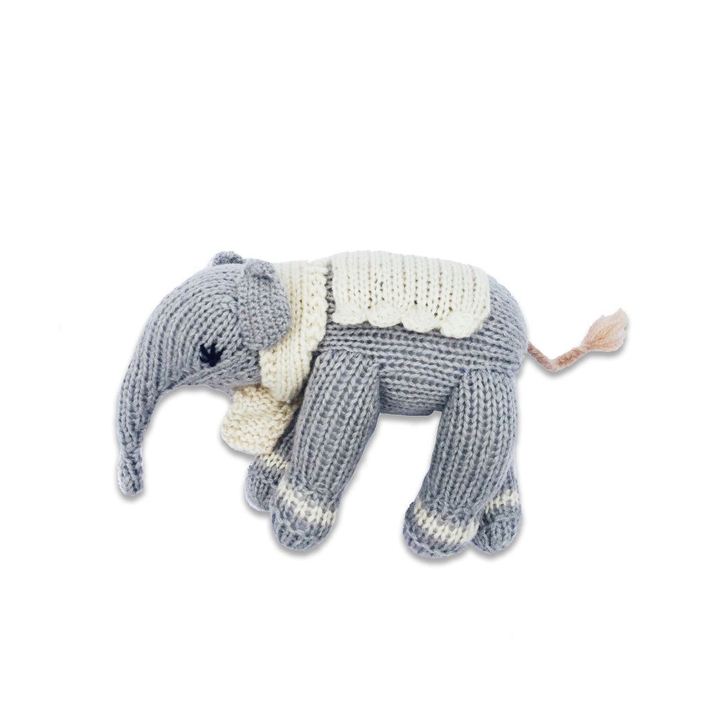 Hatti the Elephant, Fog Grey/Oatmeal