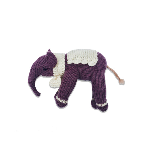 Hatti the Elephant, Plum/Oatmeal