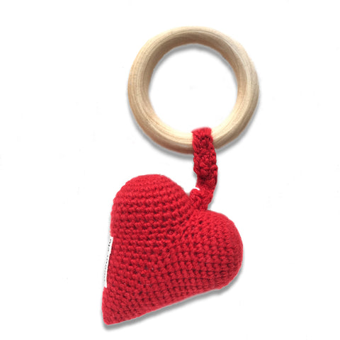 Heart Teether, Cherry