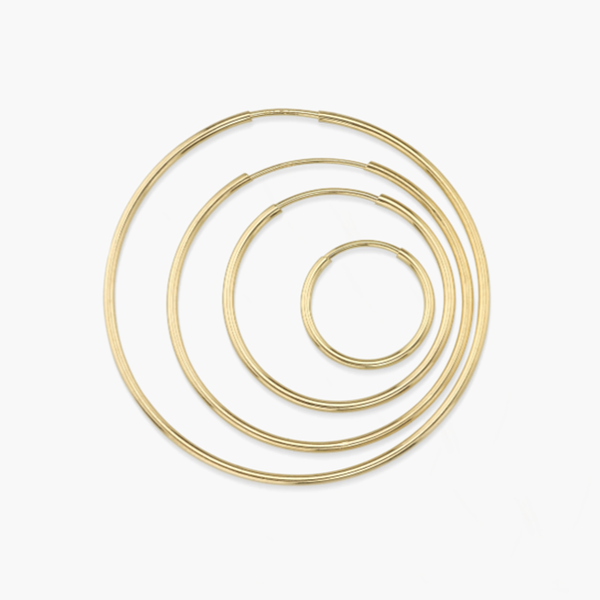 Disc Hoops Yellow Gold Filled