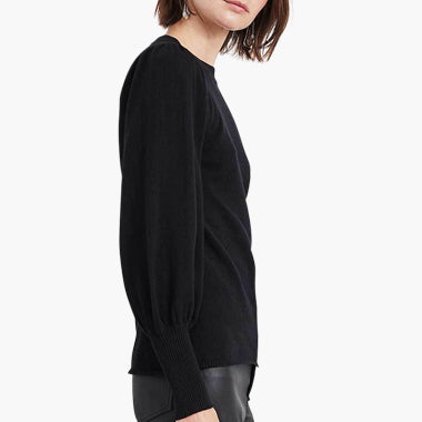 Dewi Puff Sleeve Crew Neck - Two Color Options