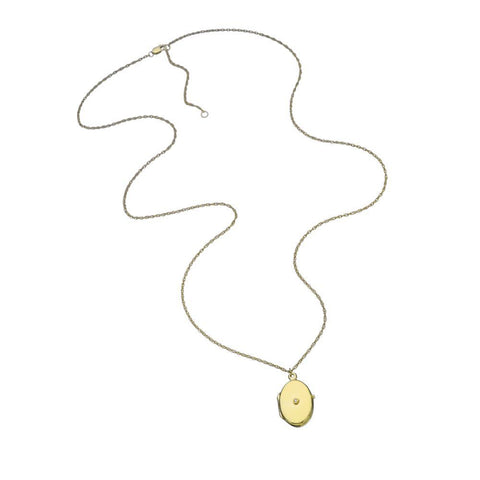 Eliana Necklace Gold Vermeil Diamond