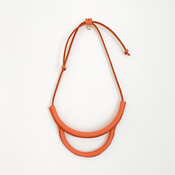 Arc Necklace Coral