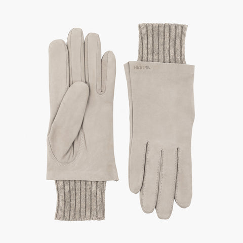 Megan Suede Gloves Grey