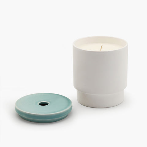 Night Space Pale Blue Candle