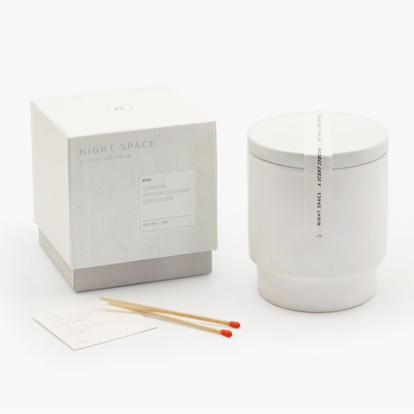 Night Space Pure White Candle