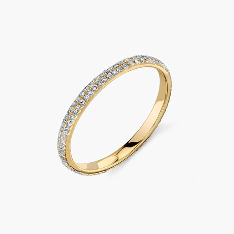 Double Pave Axel Ring