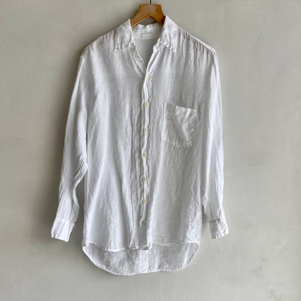 Jack Bf Style Linen Shirt White