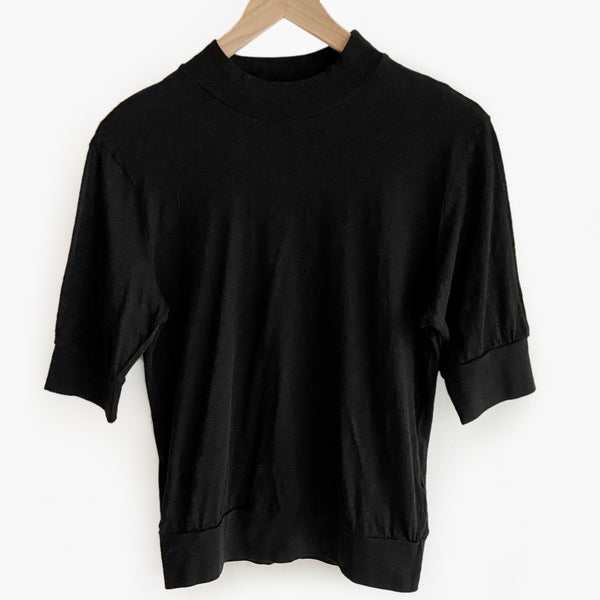 Slub Perfect Mock Neck Top - Two Color Options