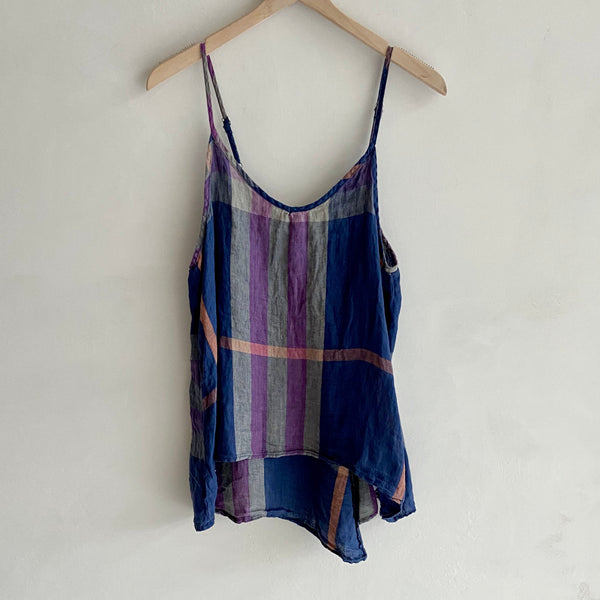 Faire Madras Plaid Tank
