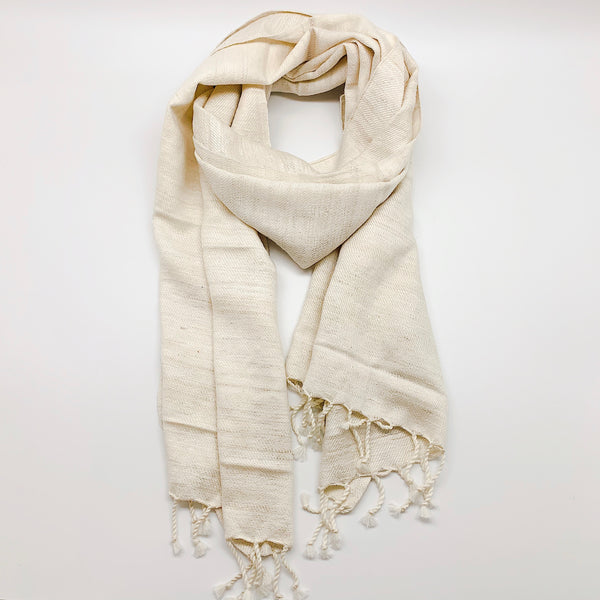 Wool/Silk Scarf Natural