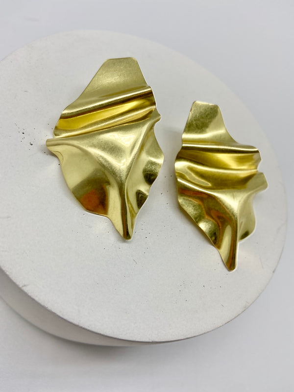 Draped Earring Small Royal Gold