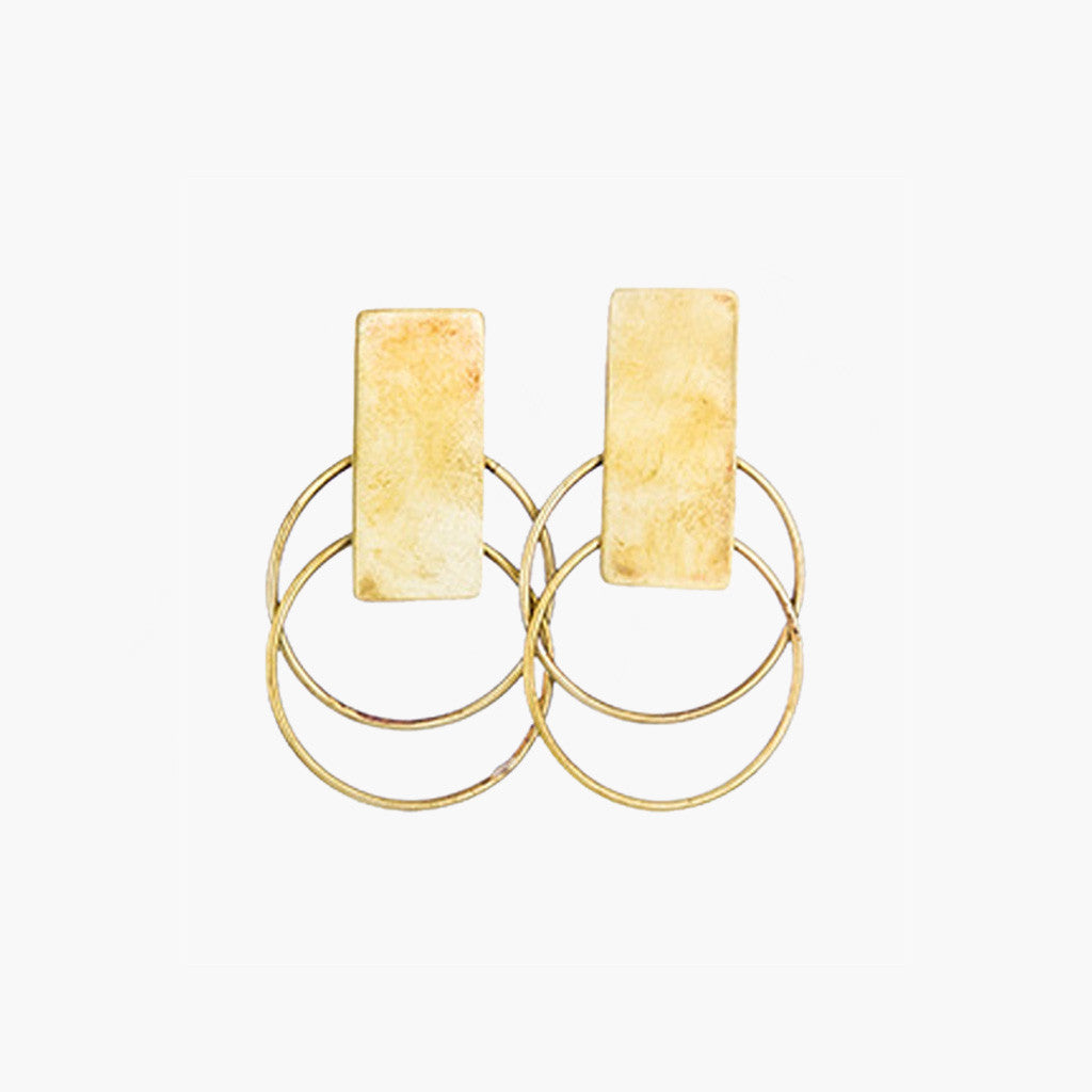 Sibilia Double Hoop Drop Earring