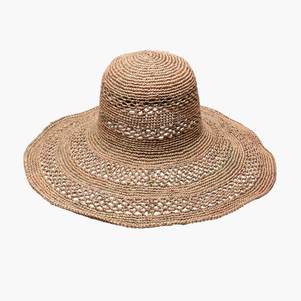Sienna Wide Brim Sun Hat - Dove