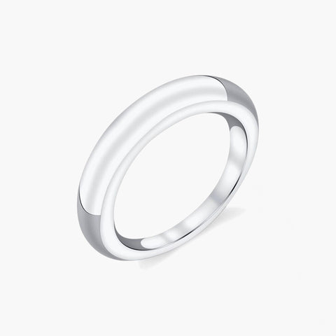 Sterling Silver Rising Tusk Ring