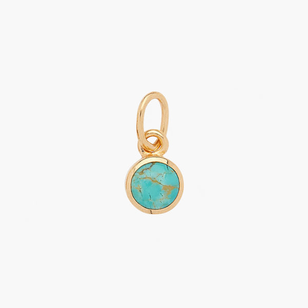 Small Turquoise Circle Charm