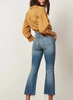 The Brady High Rise Crop Flare - Medium Wash