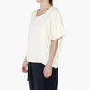 Raw Silk Cocoon Panel Top Cream