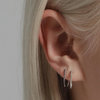 Pave Infinite Tusk Earrings