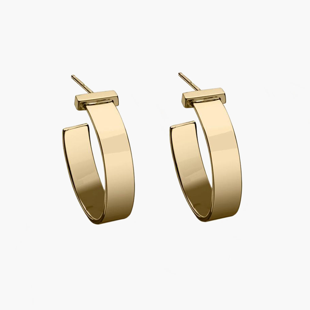 June Small Earrings 14k Gold Plated Silver