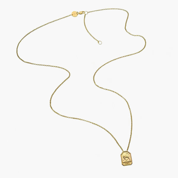 Kiana Necklace Gold Vermeil-Aquarius