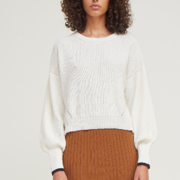 Layla Crew Sweater Snow
