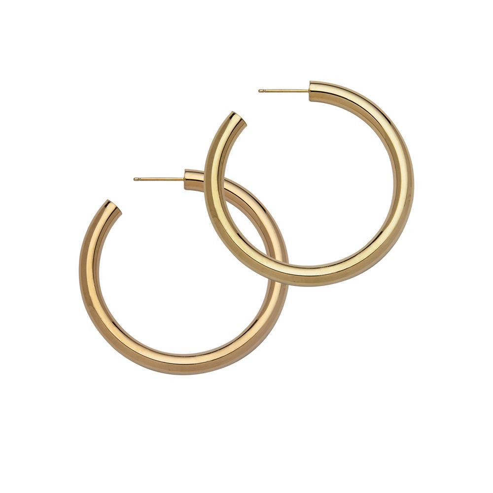 Lou Medium Earrings Gold Plated