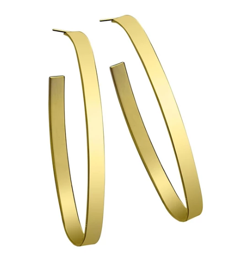 Maya Hoop Earrings 14K Gold Plated Silver