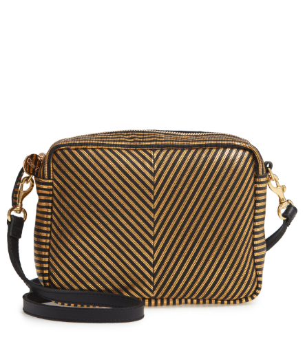 Midi Sac Disco Stripe Patchwork Black