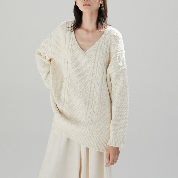 Cable Knit Jumper Natural